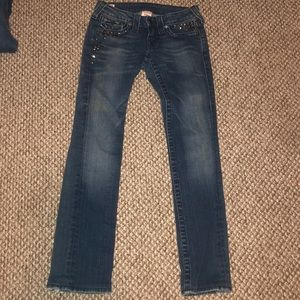True Religion Jeans Billy Studded Distressed sz 25